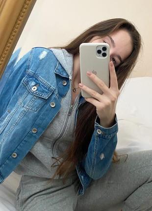Джинсовый жакет пиджак куртка р.s/m