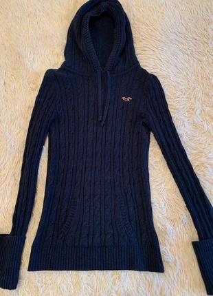 Теплый свитер с капюшоном hollister, р-р m\l