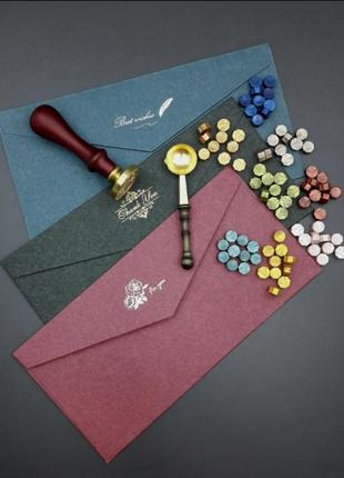 Набор для запечатывания подарков и конвертов скраббукинг