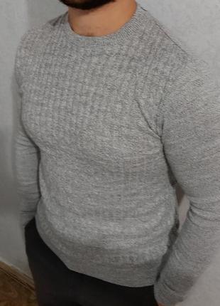 Свитер, джемпер, кофта, вязка коса - 100% акрил - размер s, asos