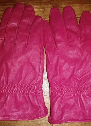 Кожаные, женские перчатки