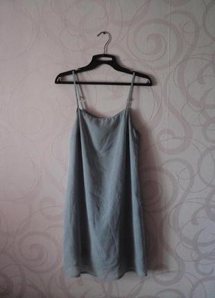 Серое платье в бельевом стиле, сарафан на лето, платье на выпускной, элегантное платье