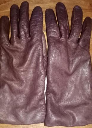 Женские, кожаные перчатки