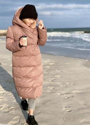 Пальто одеяло , кокон, зимнее