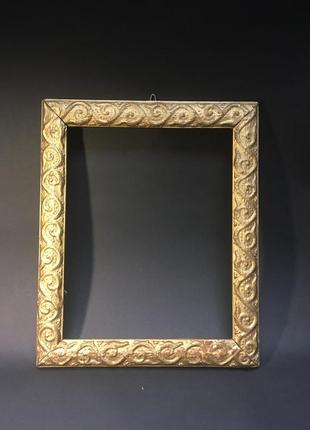 Рамка для фото золотистая старинная