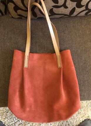 Замшевая сумка4 фото