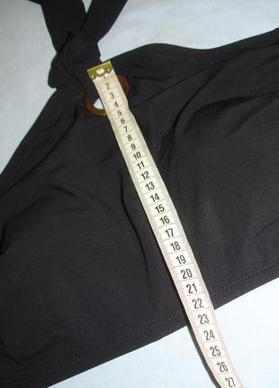 Верх от купальника раздельного топ лиф бюст чашка 80 в с черный кроп-топ бандо размер 482 фото