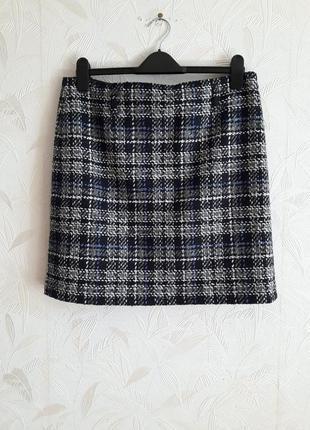 Стилтная брендрвая юбка, 48-50, шерсть, полиамид, gerry weber