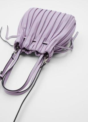 Новая лиловая сумка от zara