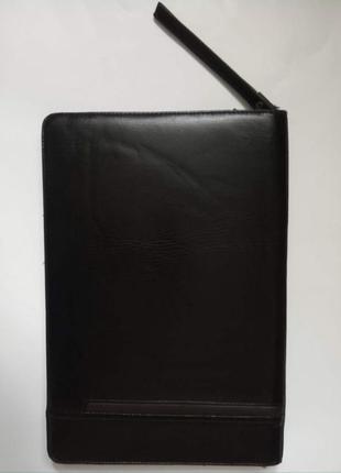 Деловая папка, черная, на молнии, с ремешком на запястье