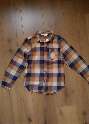 Фланелевая рубашка для мальчика h&m 6-7 лет
