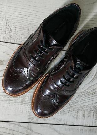 Туфли на шнурках massimo dutti pp 35