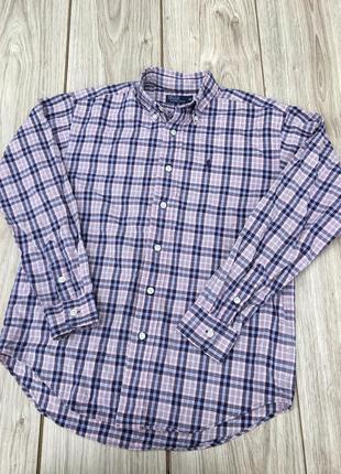 Стильная рубашка polo ralph lauren тренд клетчатая в клетку