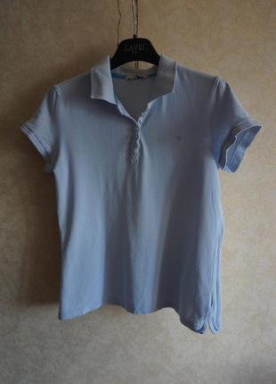 Натуральная хлопоковая футболка поло tom tailor
