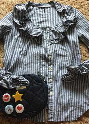 Очень стильная рубашечка от benetton