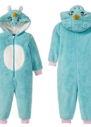 Тёплый махровый кигуруми единорог / комбинезон / пижама / германия