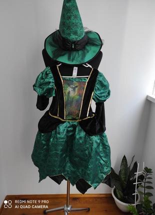 Карнавальный, костюм на хеллоуин ведьмочка, ведьма, королева пауков от tu