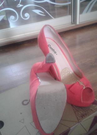 Супер туфли кораллового цвета