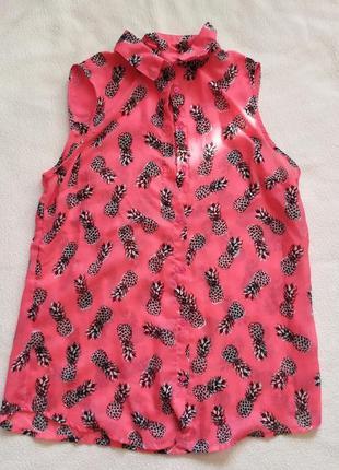 Блуза с ананасами