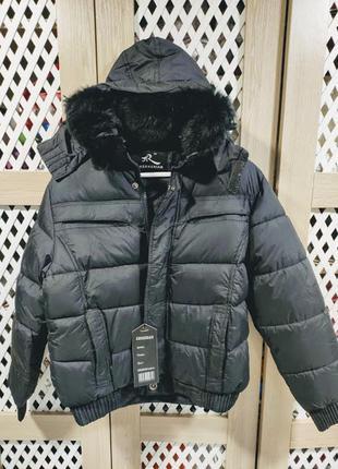 Куртка короткая зимняя мужская черная