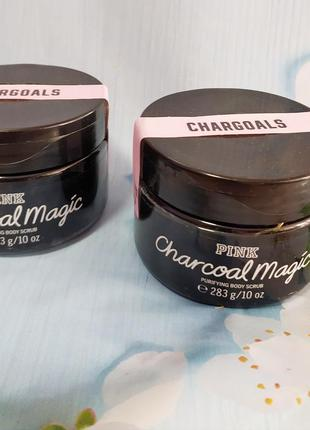 Скраб для тела charcoal magic pink от  victoria's secret  body scrub