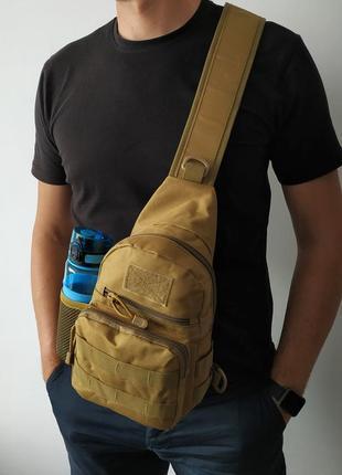 Сумка рюкзак 5 л с отделением под бутылку (черная)