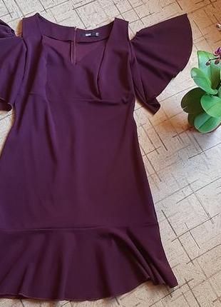 Платье цвет марсала 52-54размер