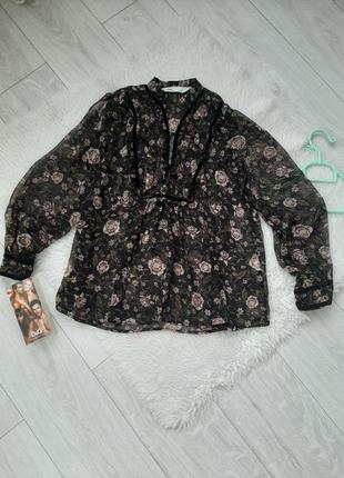 Блуза zara в цветочний принт