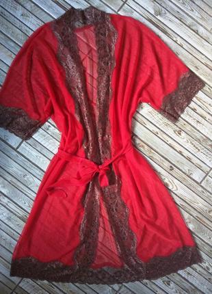 Шикарный пеньюар, прозрачный сексуальный халат