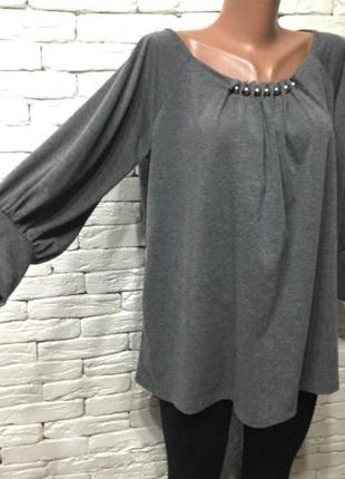 Трикотажная блуза из вискозы