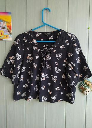 Красивый топ, блуза интересного фасона, вискоза