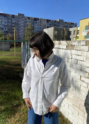 Белая рубашка ralph lauren