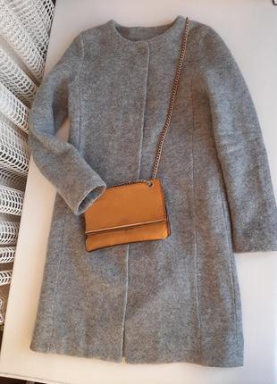 Демисезонное итальянское шерстяное пальто,деми пальто шерсть, кардиган