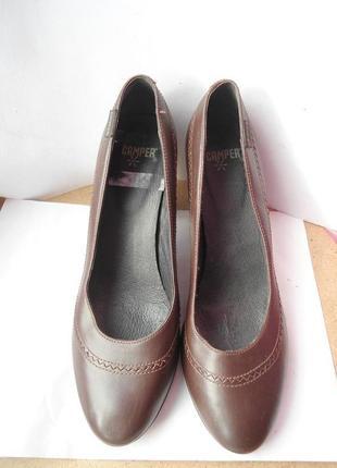 Качественные кожаные туфли! бренд camper размер 37-38