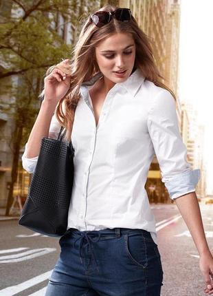 Белая рубашка (стрейч) р52-54