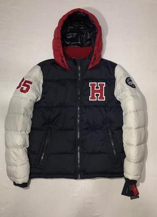 Пуховик tommy hilfiger down jacket men's big logo
