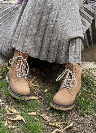 Зимние ботинки s. oliver португалия оригинал натуральная замша шерсть