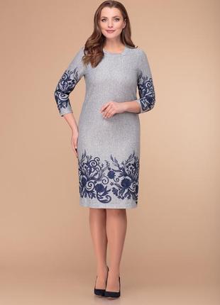Белорусский трикотаж! белорусские платья! беларусь! стильное платье, р.46-48