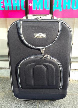Средний чемодан черный 8-ми колесный без предоплат