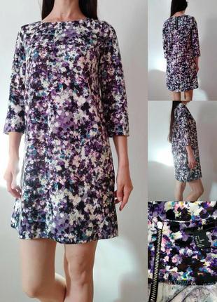 Платье прямого кроя трикотаж средней плотности