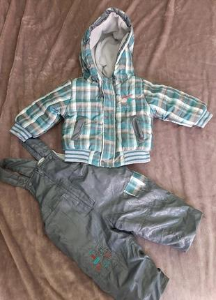Теплый осенний комплект, набор курточка и штанишки, куртка