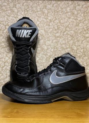 Мужские высокие кожаные кроссовки nike the overplay vii оригинал размер 45
