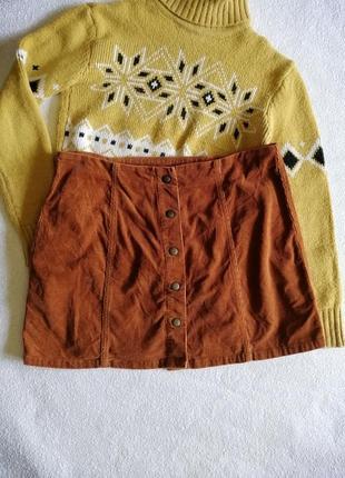 Велтветовая юбка