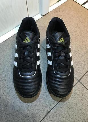 Шкіряні чорні сороконіжки копки футзалки adidas