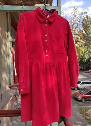 Платье вельветовое xs