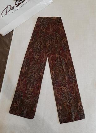 Мужской шелковый шарф италия