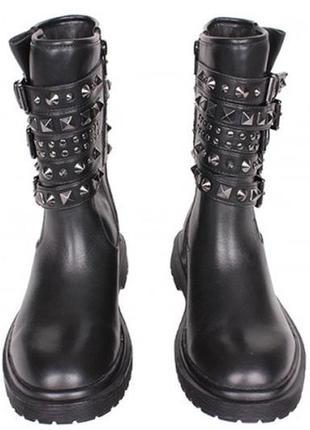 Трендовые кожаные ботинки-сапоги guess,оригинал