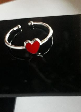 Кольцо 925 проба серебро  посеребрение каблучка серебряное кольцо колечко