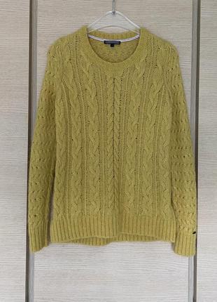 Яркий тёплый пуловер tommy hilfiger размер s