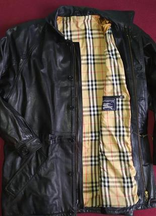 Шкіряна куртка burberry's xl